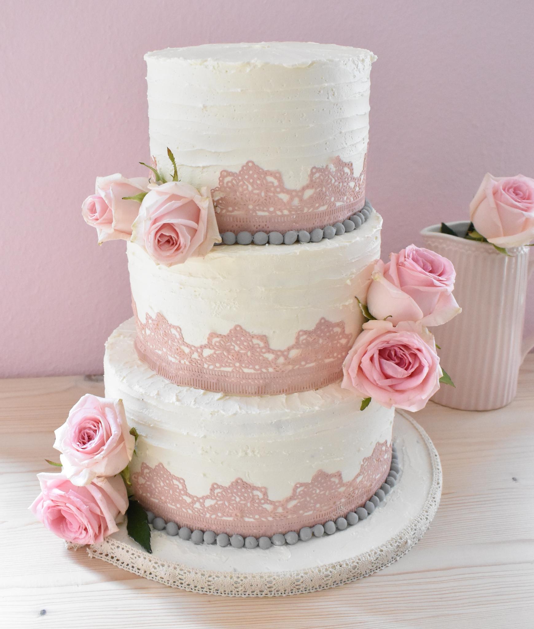 Buttercream rosa Spitze