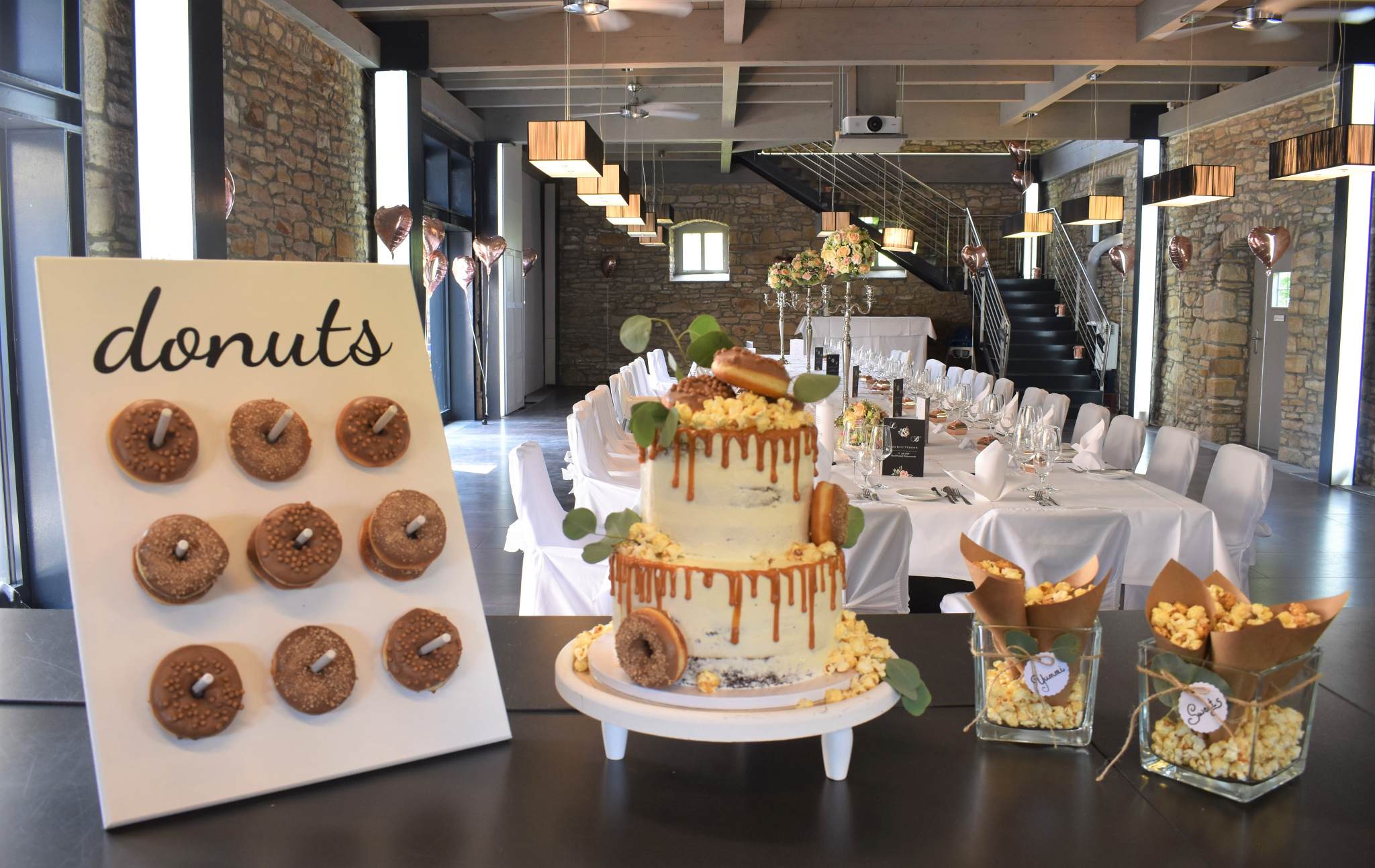 Donut-Popcorn-Wedding
