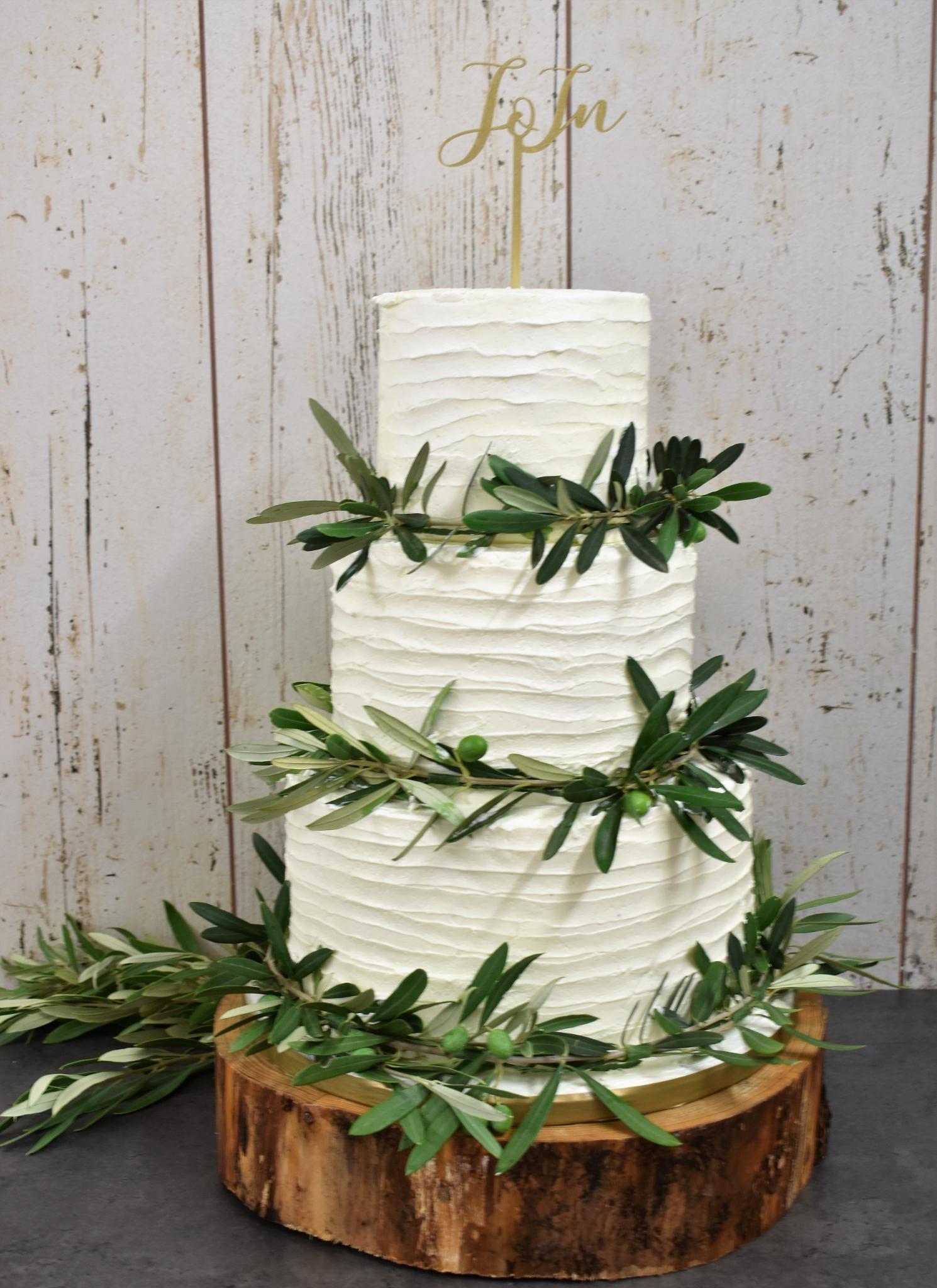 Hochzeitstorte Olivenzweige