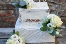 Cream Cake eckig silber