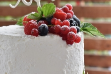 Rustic Cream Cake love1