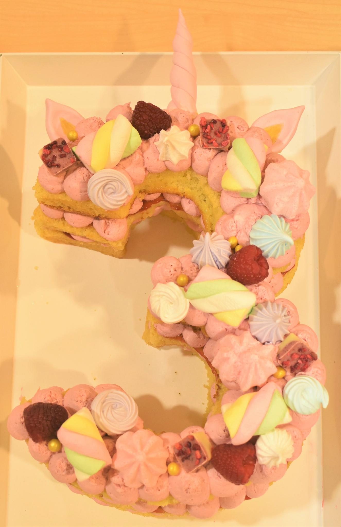 Zahlenkuchen Einhorn