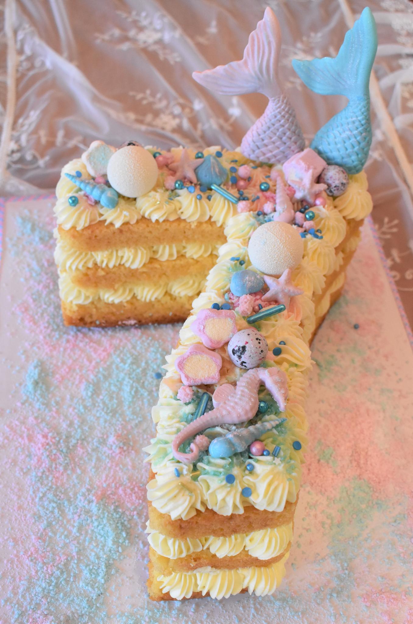 Zahlenkuchen-Meerjungfrau