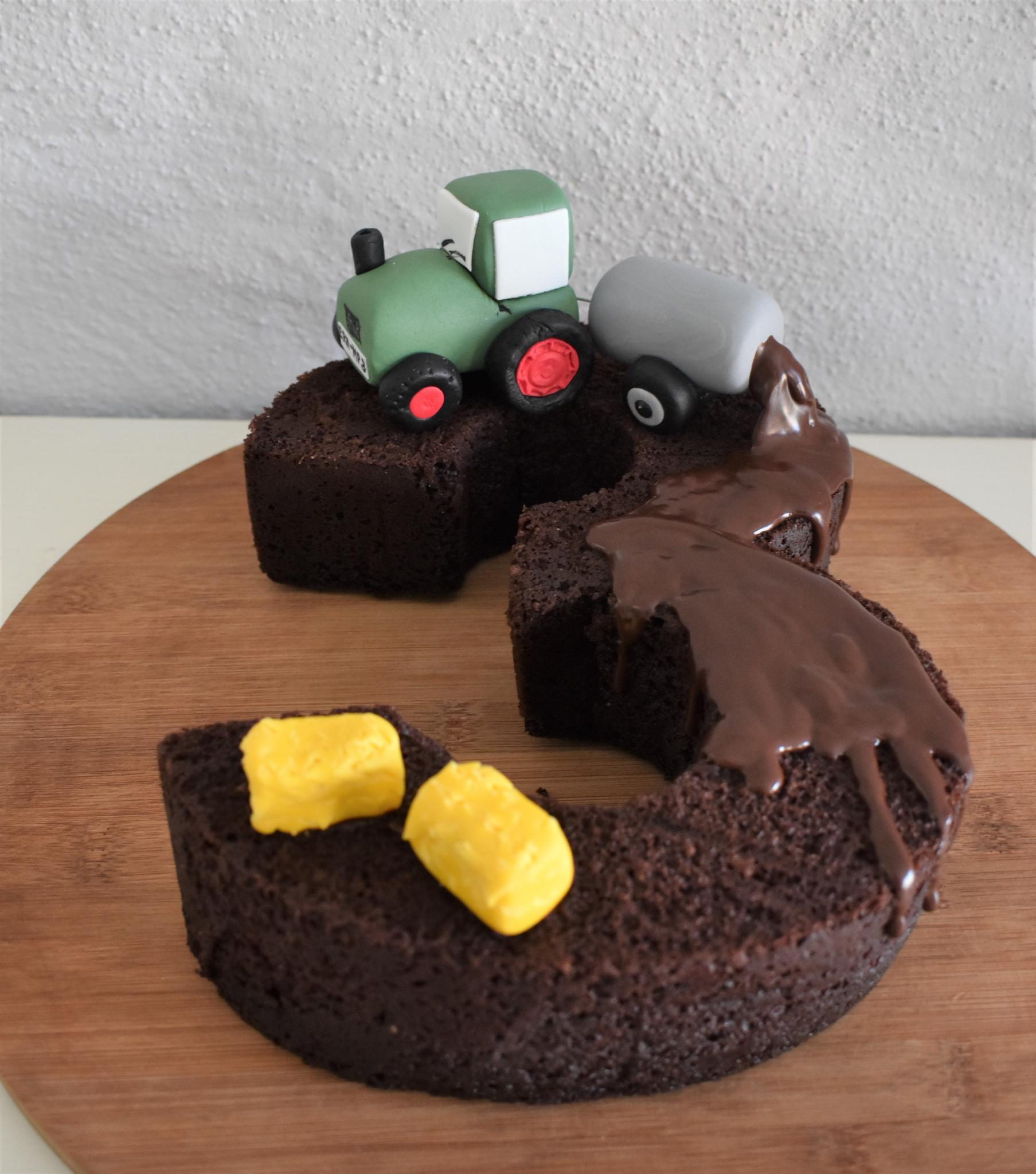 Zahlenkuchen-Traktor