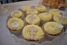 Cupcakes Konfirmation Blüten
