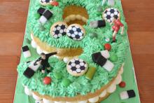 Zahlenkuchen-Fussball