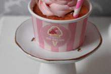 Erdbeer Milkshake Cupcake